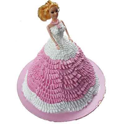Princess Barbie Doll Cake