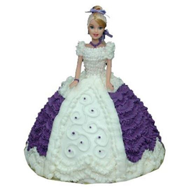 Purple Dress Doll Cake