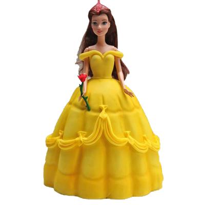 Sunshine Barbie Doll Cake
