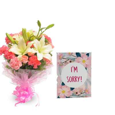 Mix Bouquet with Sorry Card