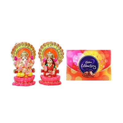 Laxmi Ganesh Idols with Celebration