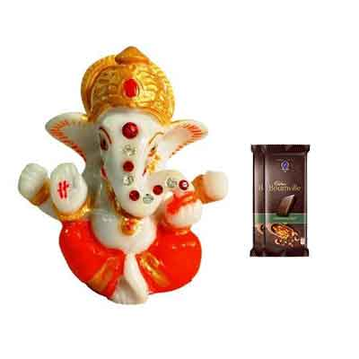 Lord Ganesh Idol with Bournville