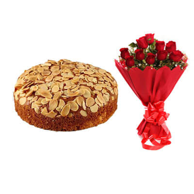 Almonds Dry Cake with Bouquet