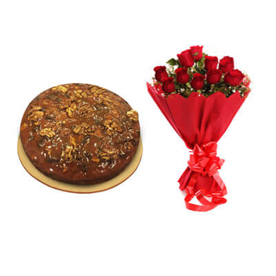Caramel Dry Cake with Bouquet