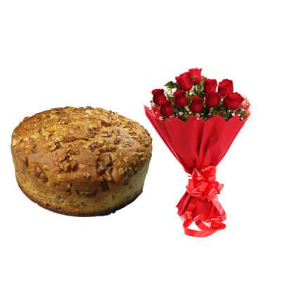 Walnut Dry Cake with Bouquet