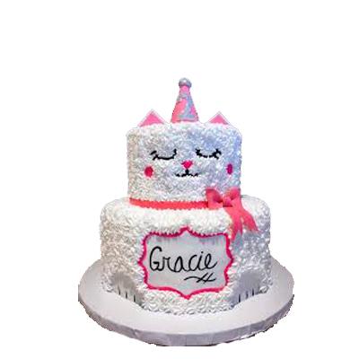 2 Tier Kitty Cake