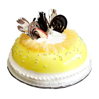 Dome Shaped Pineapple Cake