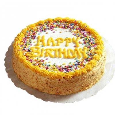 Happy Birthday Butterscotch Cake