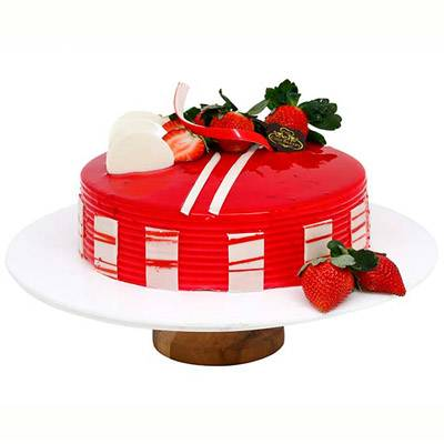 Satin Strawberry Cake