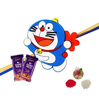 Doraemon Rakhi with Silk