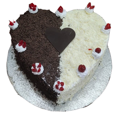Eggless Tempting Duel Forest Cake