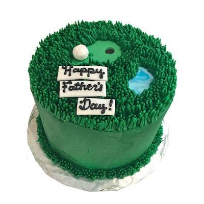 Delicious Happy Fathers Day Fondant Cake