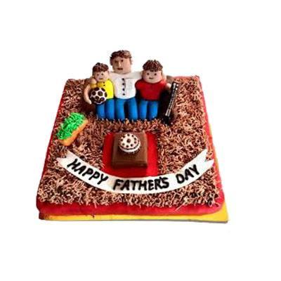 Happy Fathers Day Chocolate Fondant Cake