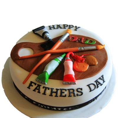 Happy Fathers Day Fondant Cake