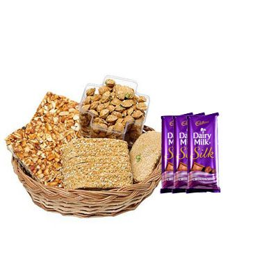Special Lohri Sweets with Silk