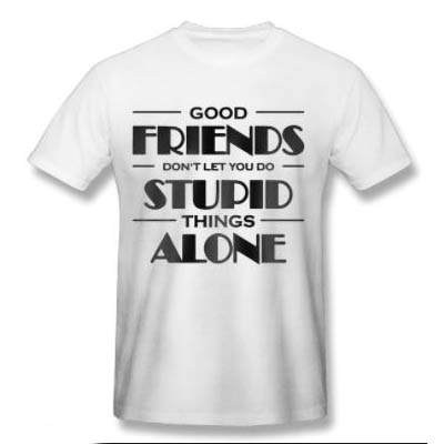 Good Friends Printed T-shirt
