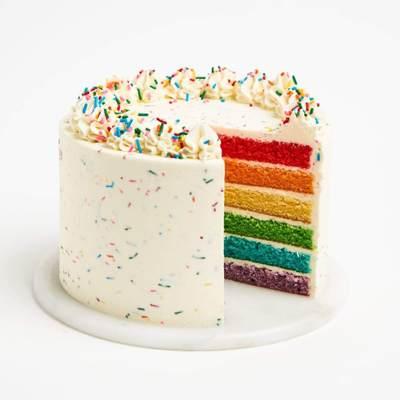 Special Vanilla Rainbow Cake