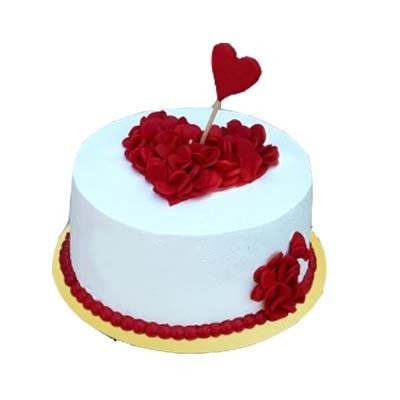 Romantic Pineapple Cake With Heart on Top