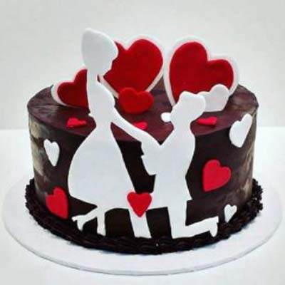 Most Romantic Valentine Fondant Cake