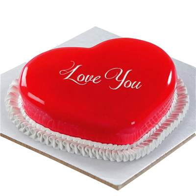 Love You Strawberry Cake