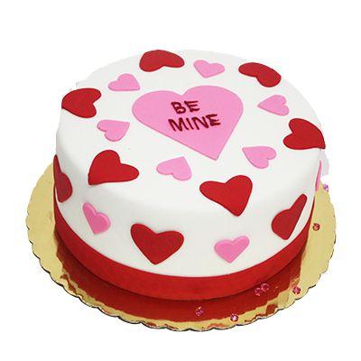 Be Mine Valentine Fondant Cake