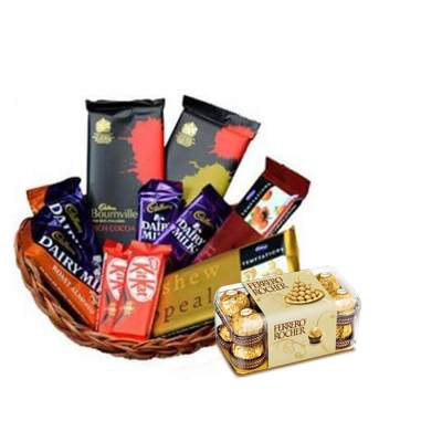 Indian Chocolate Basket with Ferrero
