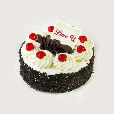 Love U Valentine Five Star Black Forest Cake