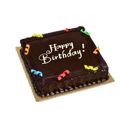 Happy Birthday Chocolate Truffle Cake