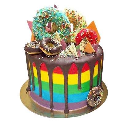 Gaga Rainbow Cake