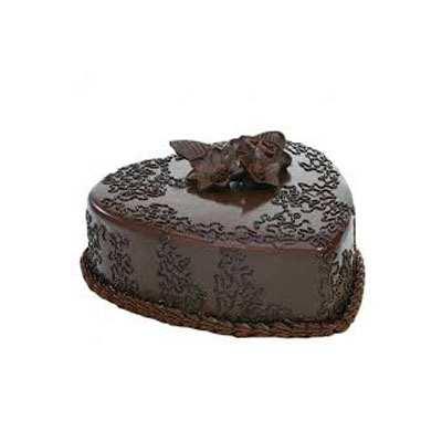 Heart Shape Chocolate Truffle Luxury Cake