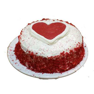 Red Velvet Cake with Heart