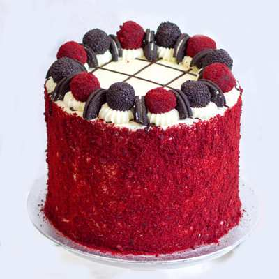 Four Layer Red Velvet Oreo Cake