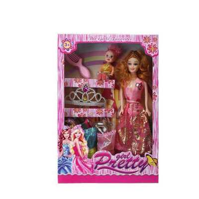 Pretty Girl Barbie Doll Set