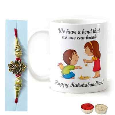 Designer Rakhi with Mug