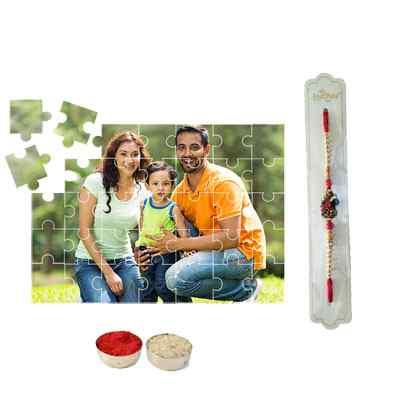 Rakhi with Personalized Puzzle