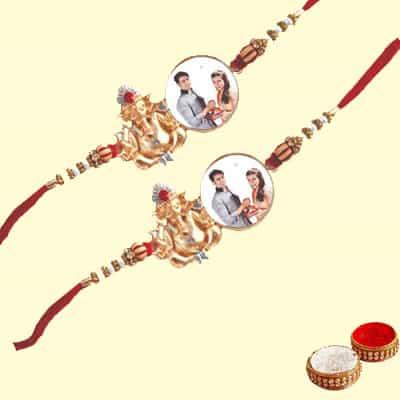 Personalized Ganesha Rakhi Set