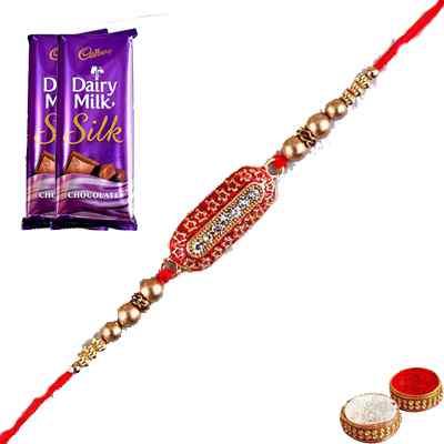 Capsule Rakhi with Silk