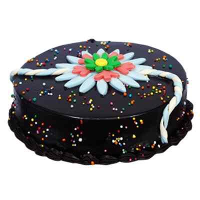 Delicious Chocolate Rakhi Cake