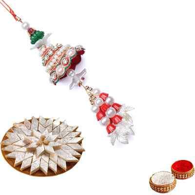 Pearl Lumba Rakhi for Bhabhi with katli