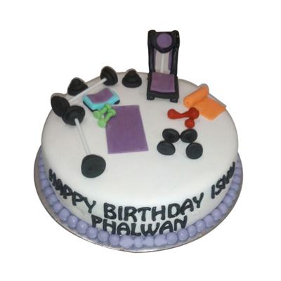 Appetizing Gym Cake