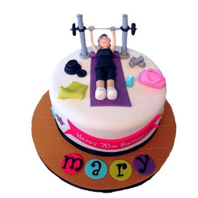 Vanilla Gym Cake