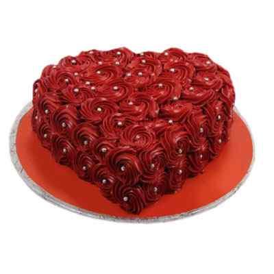 Heart Shaped Rosette Cake