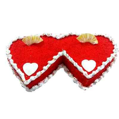 Red Velvet Double Heart Cake