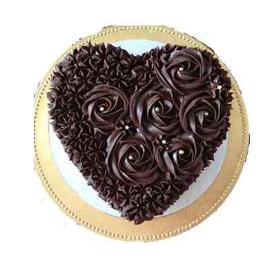 Marvolous Heart Shape Chocolate Cake