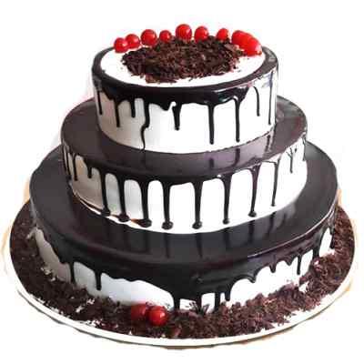 Appetizing 3 Tier Black forest Cake