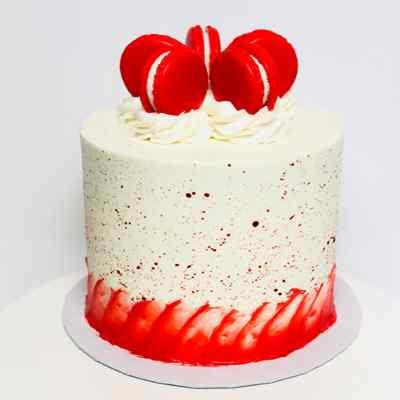 Delectable Red Velvet Cream Cake