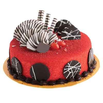 Beautiful Red Velvet Design Cake