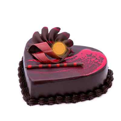 Choco Red Velvet Heart Shape Cake