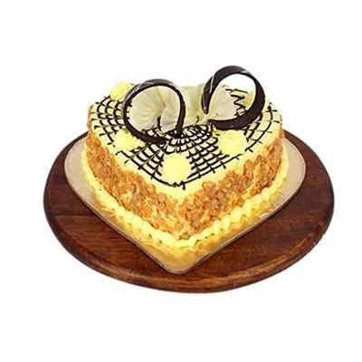 Nectarous Heart Shape Butterscotch Cake
