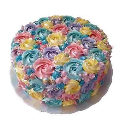Distinctive Rose Design Cake